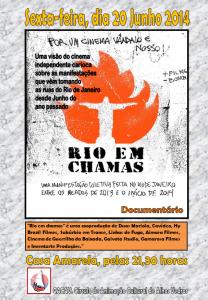 Cartaz do filme Rio em Chamas