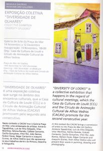 Folheto da exposição de Quarteira 2015