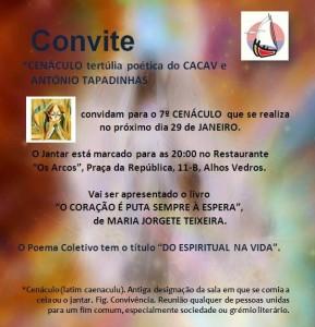 7º Cenáculo - Tertúlia Poética da CACAV