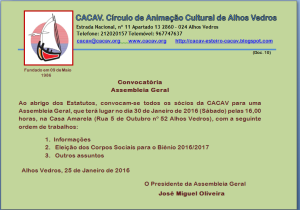 Assembleia Geral da CACAV 2016