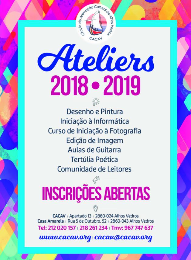 Oficina D'Artes da CACAV (Início do Ano Lectivo 2018-2019