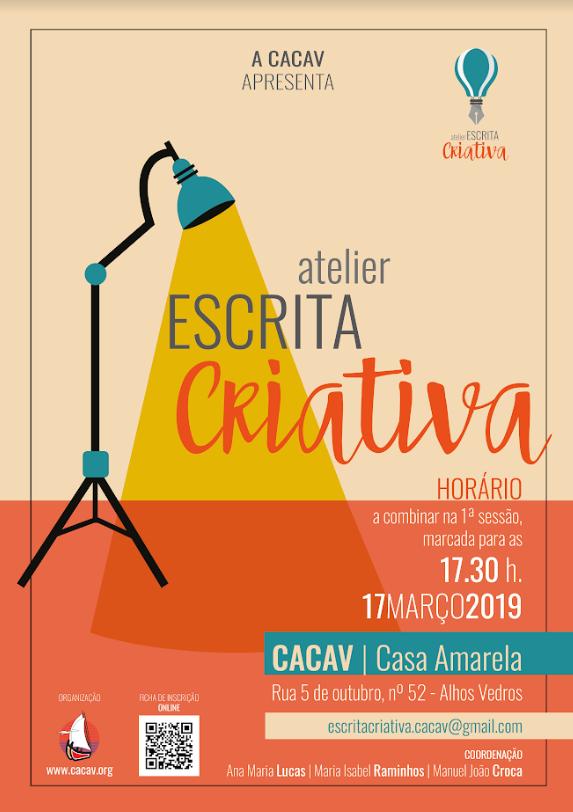 Atelier de Escrita Criativa na CACAV